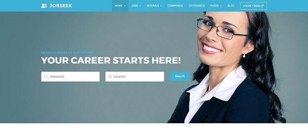 Image result for jobseek wordpress theme